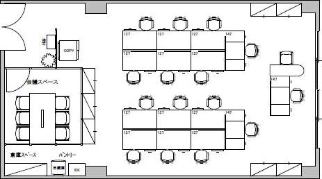 6.オフィス・オフィス/貸室面積20坪/収容人数15人