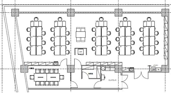 8.オフィス・ビル/貸室面積50坪/収容人数35人