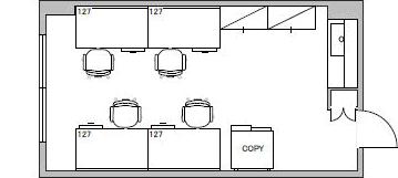 4.オフィス・ビル/貸室面積5坪/収容人数4人